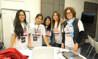 """Laboratoria students win 3rd prize at """"Ni Una Menos Hackathon"""" at PUCP"""