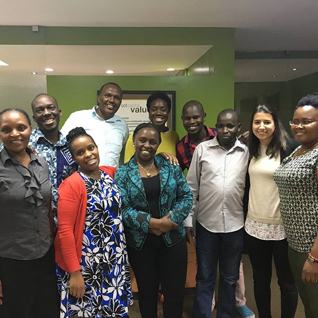 Dominique, PF Portfolio Associate, is in Nairobi for the Segal Family Foundation Annual Meeting. Here she is with the @rootcapital team visiting their office!