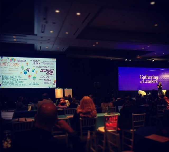 Our ED @jessamynshamslau takes the message of #EPICpartnerships and #unicornsunite to the New Profit Gathering of Leaders. 🦄 #granteecentricphilanthropy 🦄