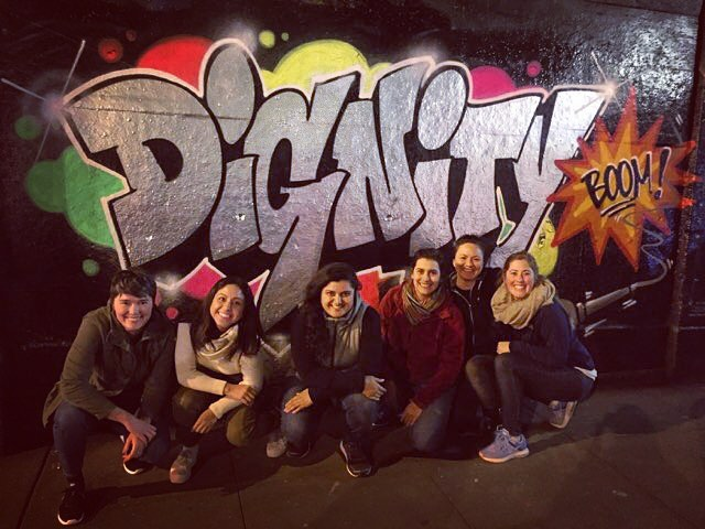 Celebrating our rad team for all the work, dedication, and care they brought to 2017 (and their newly acquired graffiti skills)! #dignity #boom #micdrop