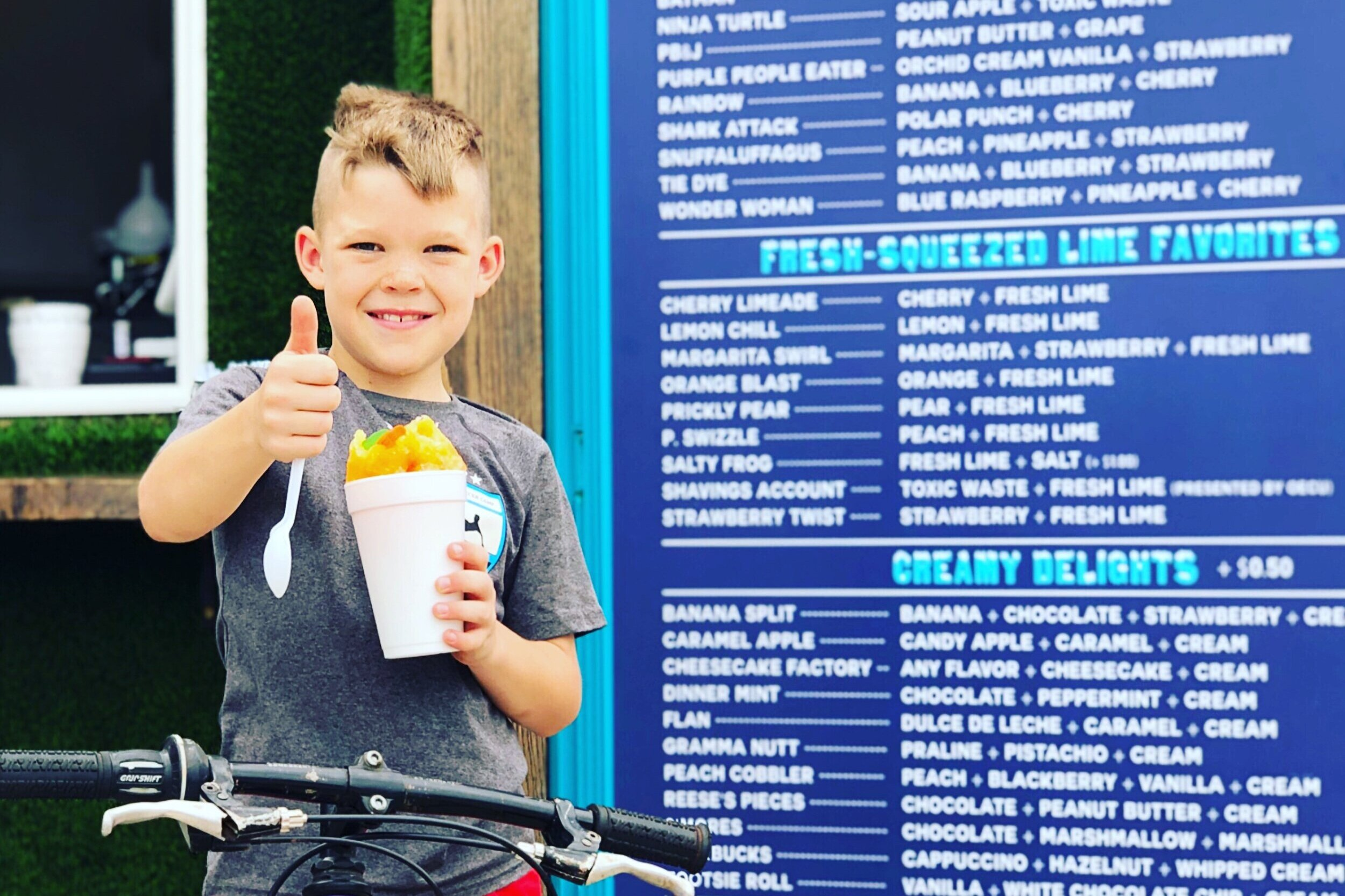 Sasquatch Shaved Ice A non-profit snow cone stand offering 112 flavors -