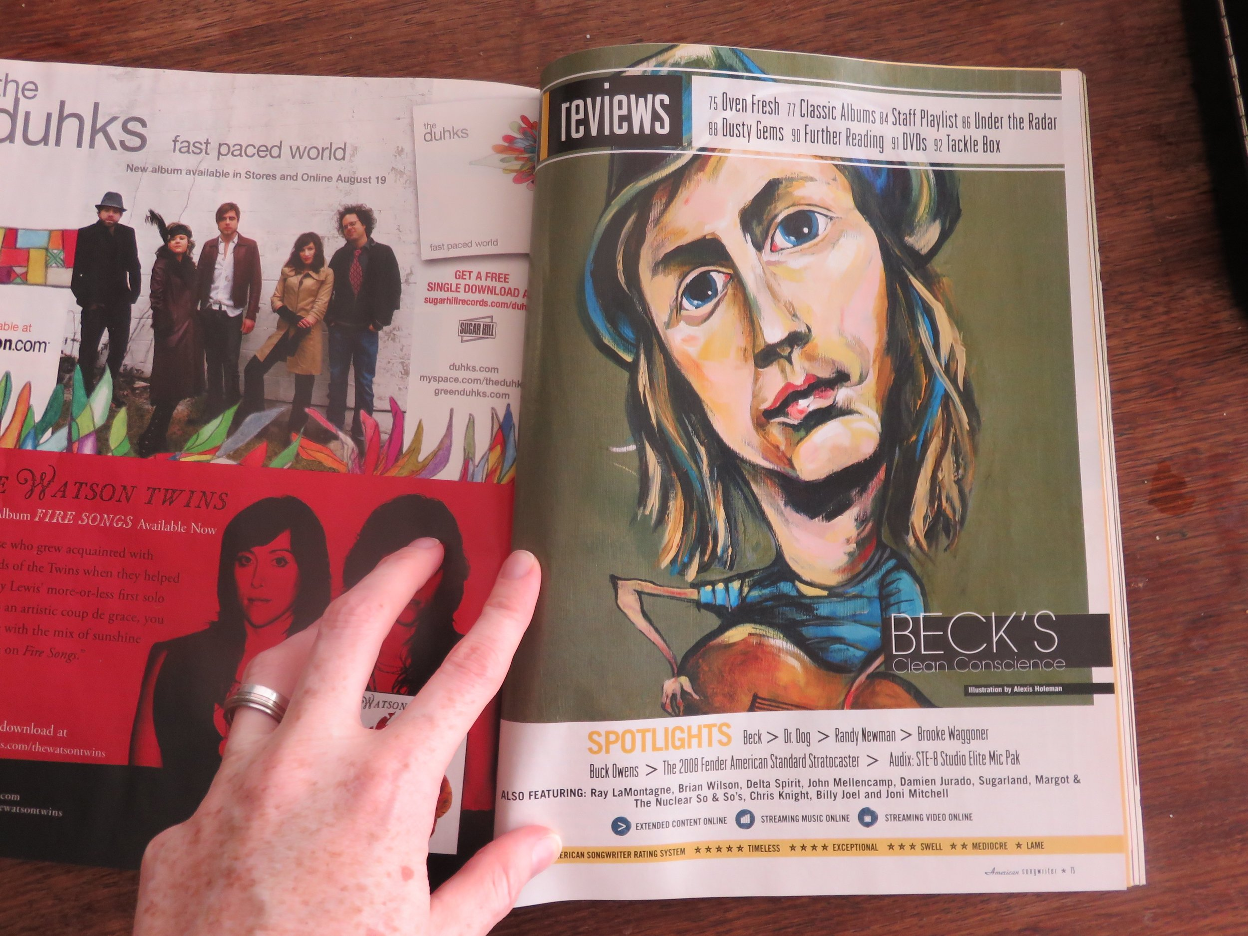 Beck illustration_  American Songwriter Magazine