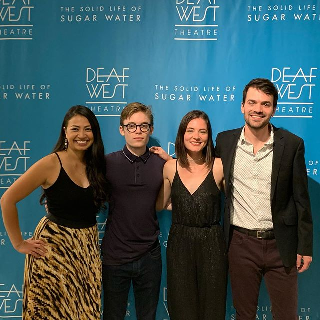 Scenes from opening night of The Solid Life of Sugar Water.