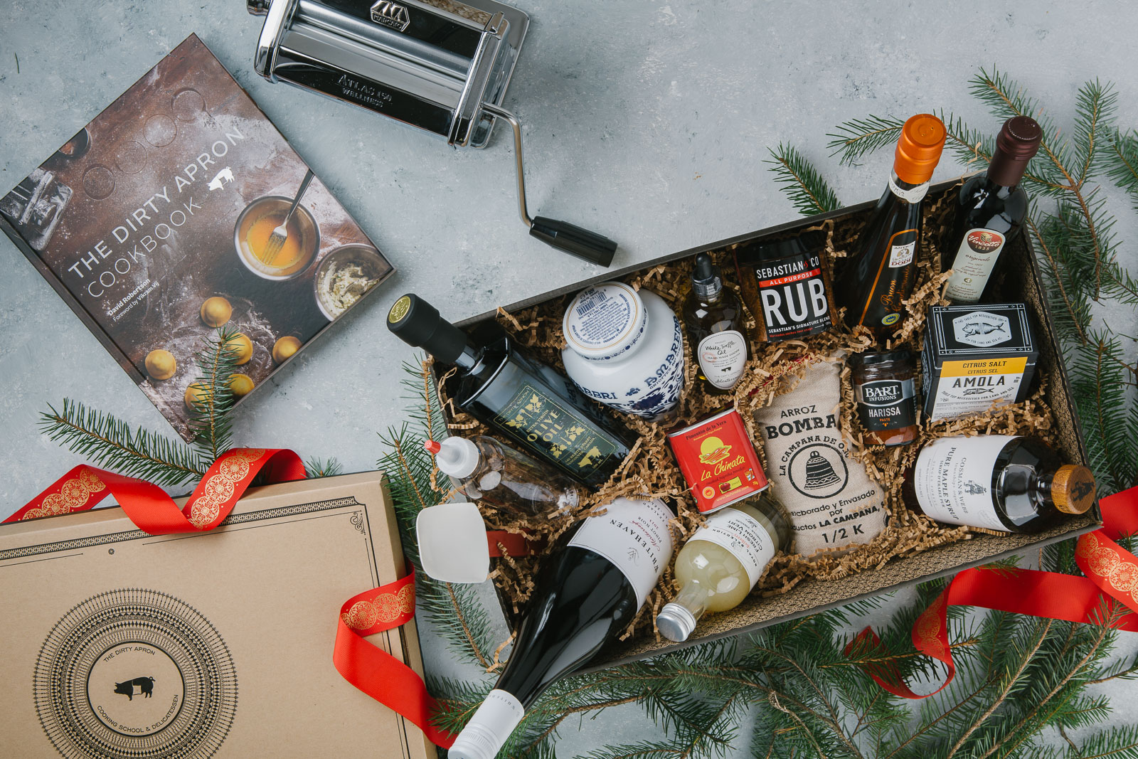 Custom photos for The Dirty Apron's Christmas  Gift Box program .