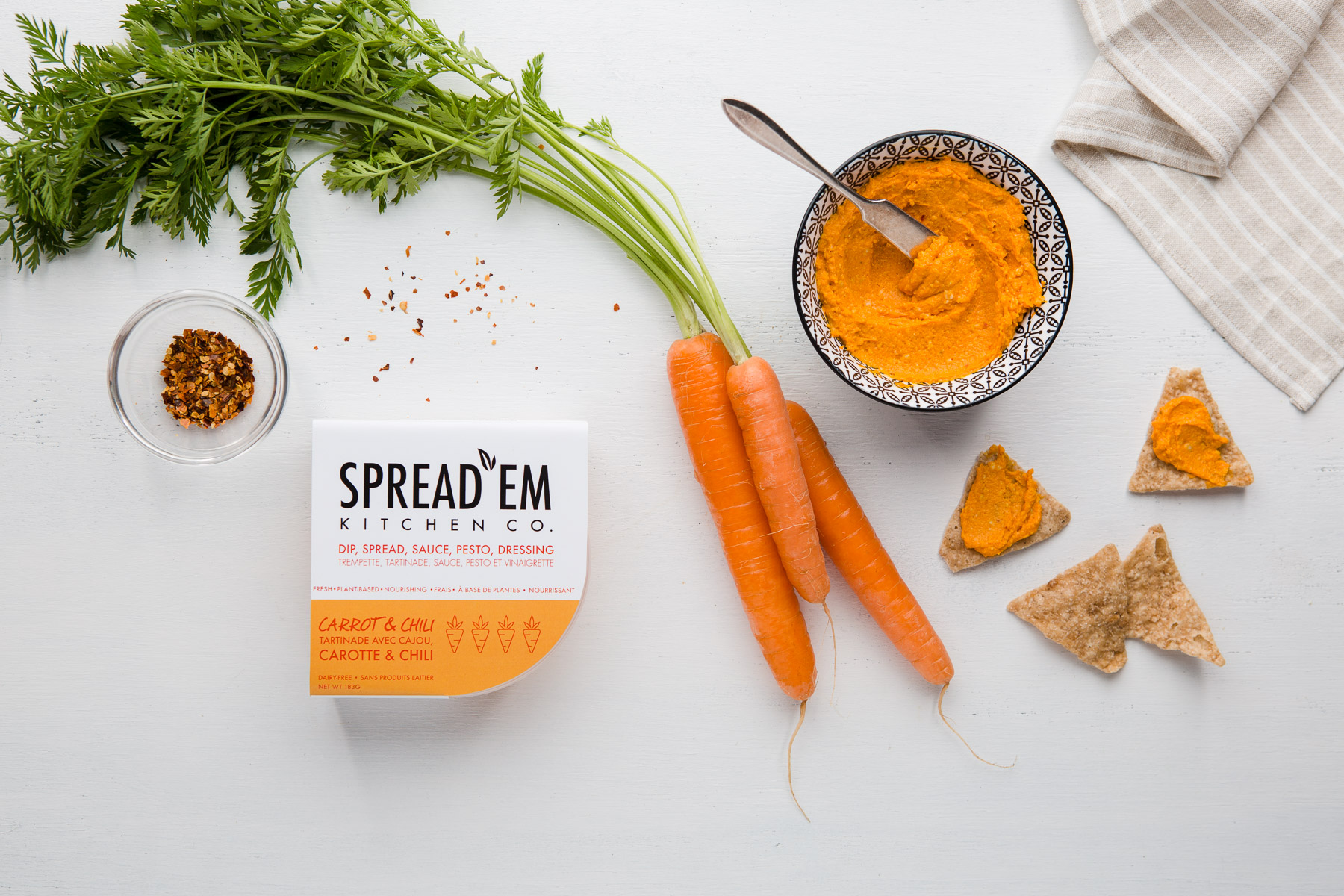 deconstructed product shot for  spread'em kitchen co . website