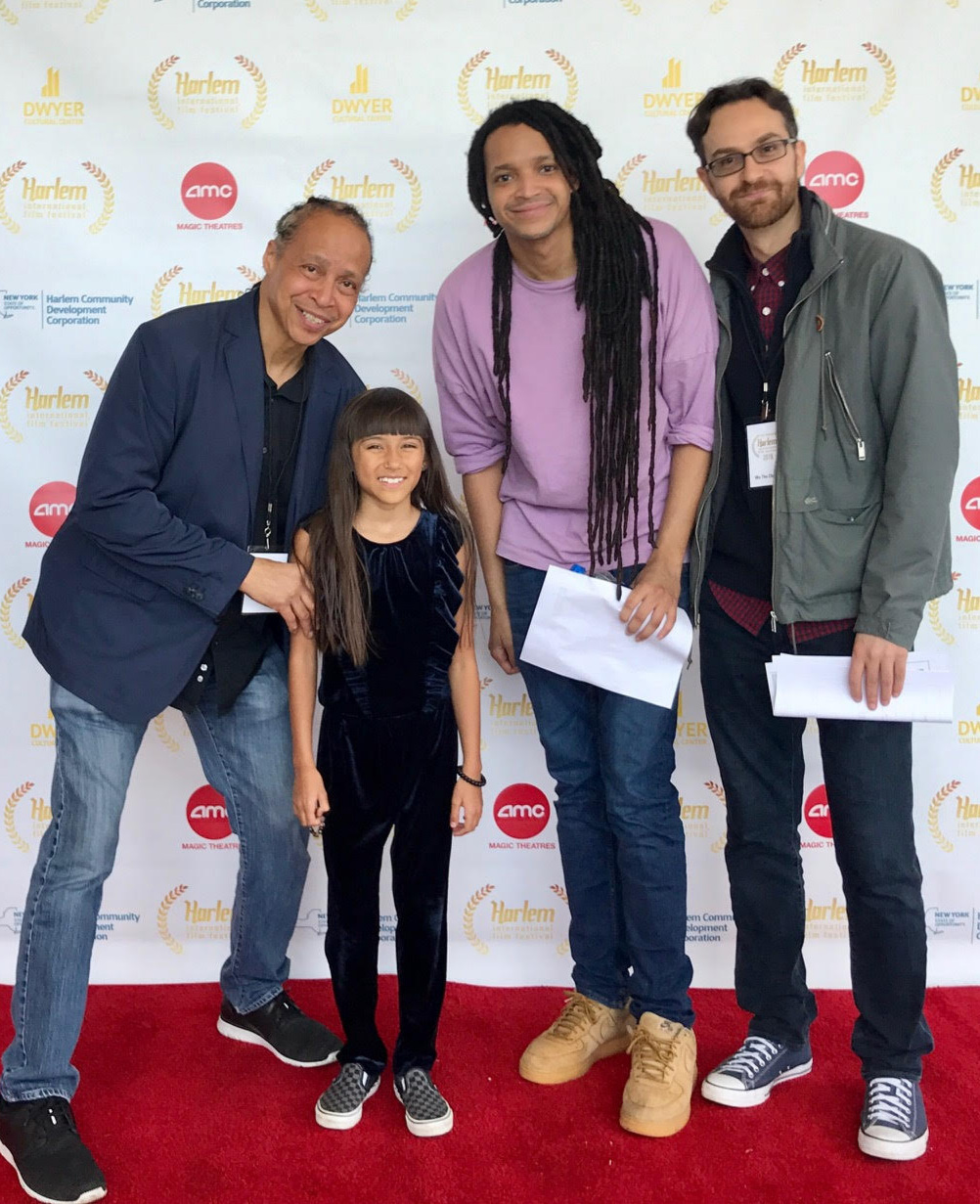 Directors Jamal Joseph & Mike De Caro, co-coproducer Jad Joseph, and Kate, one of the little stars of the doc.