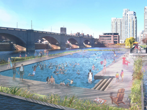 I led a team of pro bono professionals to write a  feasibility study for a permanent swimming facility  in the Charles River.