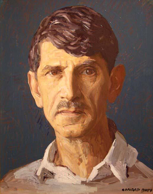 Self Portrait   /Oil on Board / 15.375 x 12.375 in.