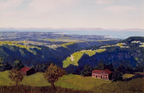 Lake Constance, Switzerland    / Oil on Masonite / 24 x 35 in. / Private Collection