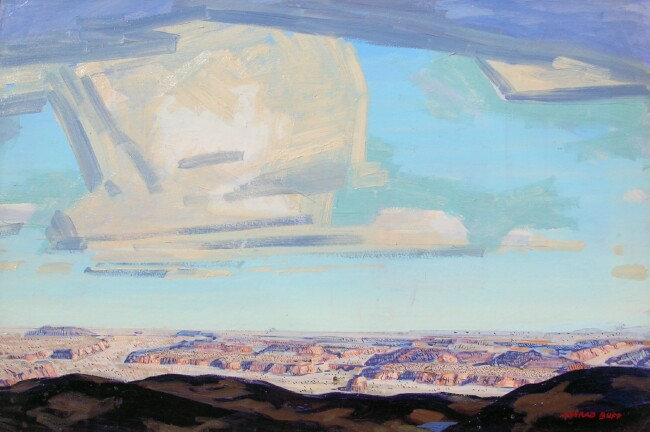 Desert Sky    / Oil on Cardboard / 24.5x 36 in.