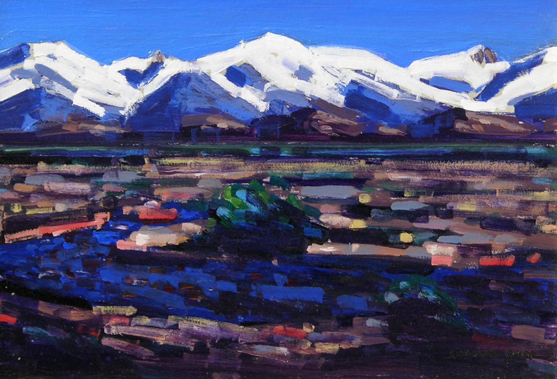 Snow Landscape   / Oil on Board / 11.5 x 16.5 in.
