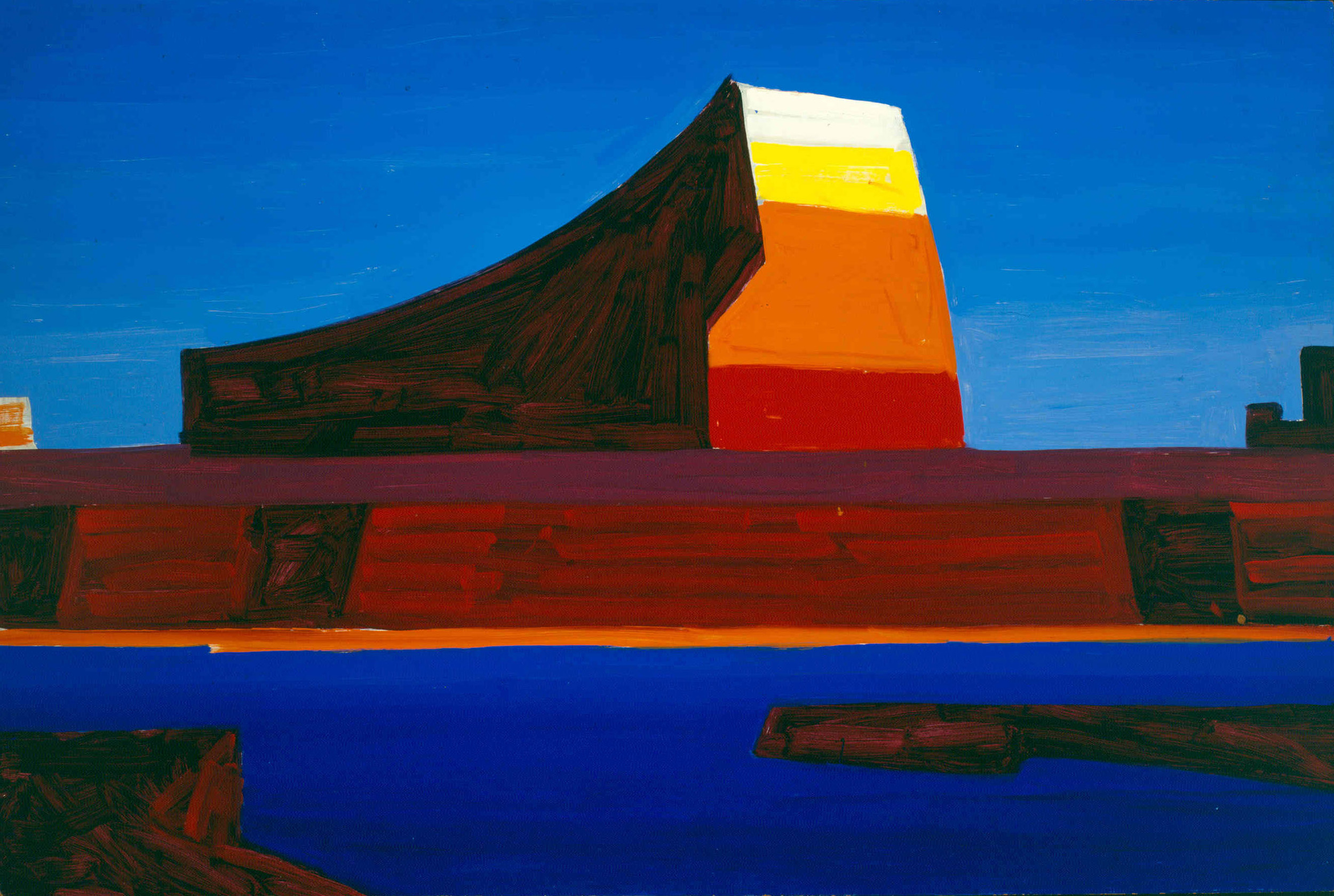 Wayne County III (Lake Powell, Utah)   / Oil on Masonite / 35 x 52.875 in.