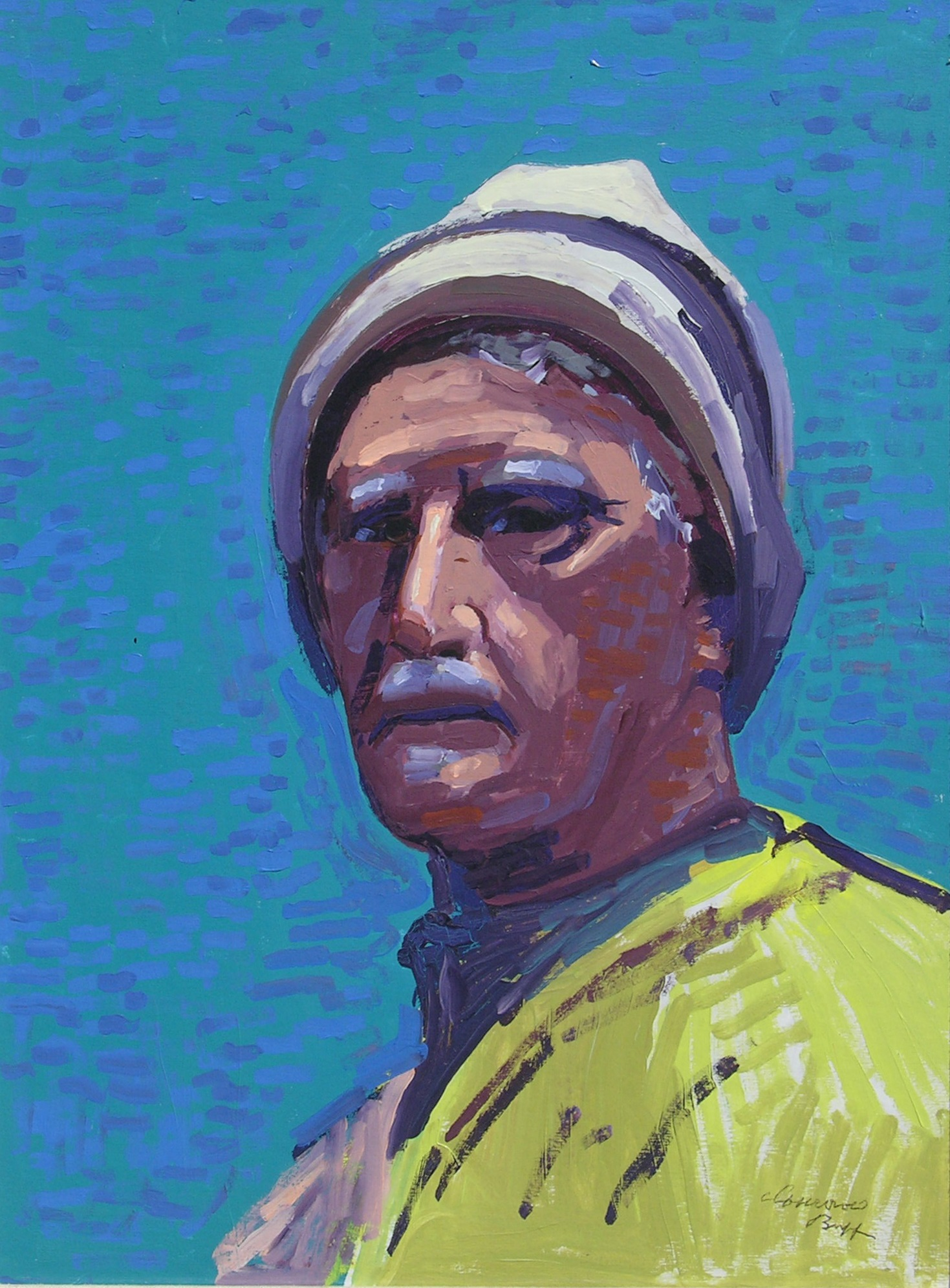 Self Portrait in Later Years   /Oil on Board / 24 x 18 in.