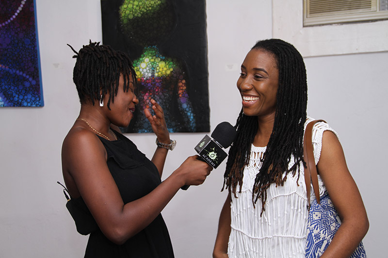 Guests being interviewed