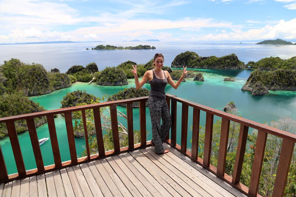 The View from the Top of Piaynemo Island in Raja Ampat