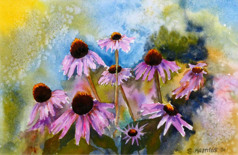 Purple Coneflower , 9 x 12