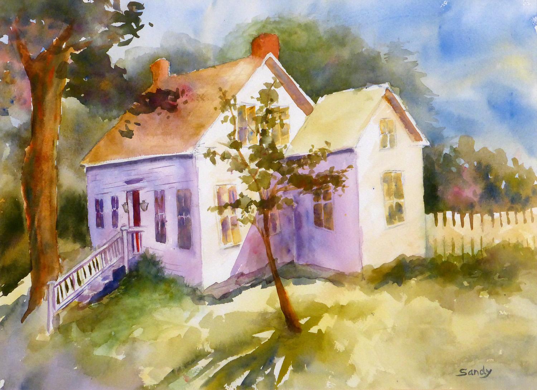 Summer Cottage, Maine , 11 x 14