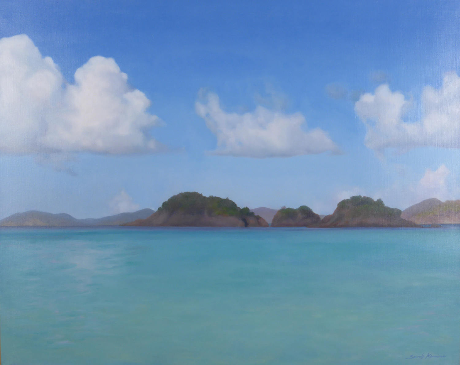 Trunk Bay, St. John , 24 x 30 oil on linen