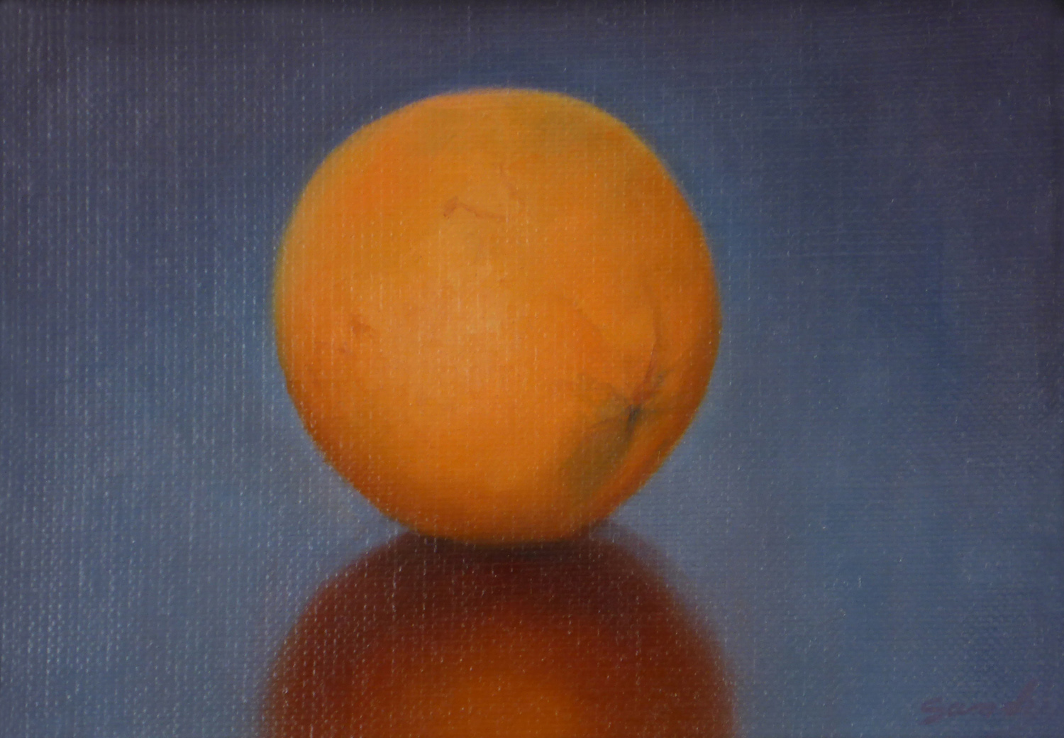 Orange , 5 x 7, oil on linen