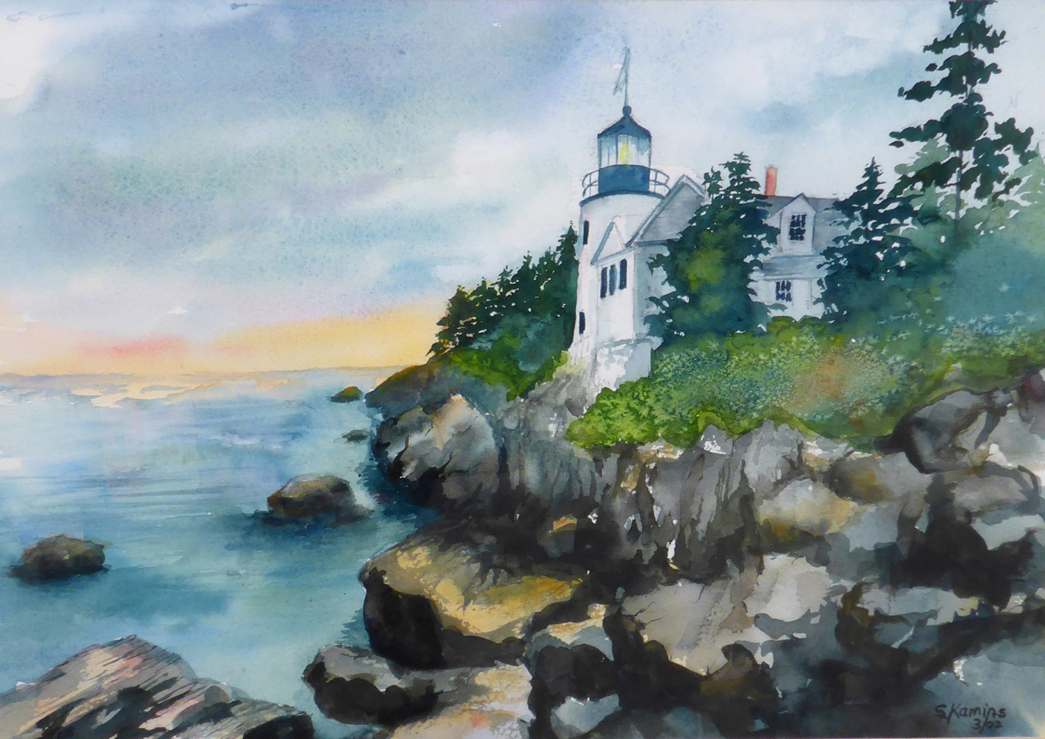 Maine Lighthouse ,14 x 16 inches