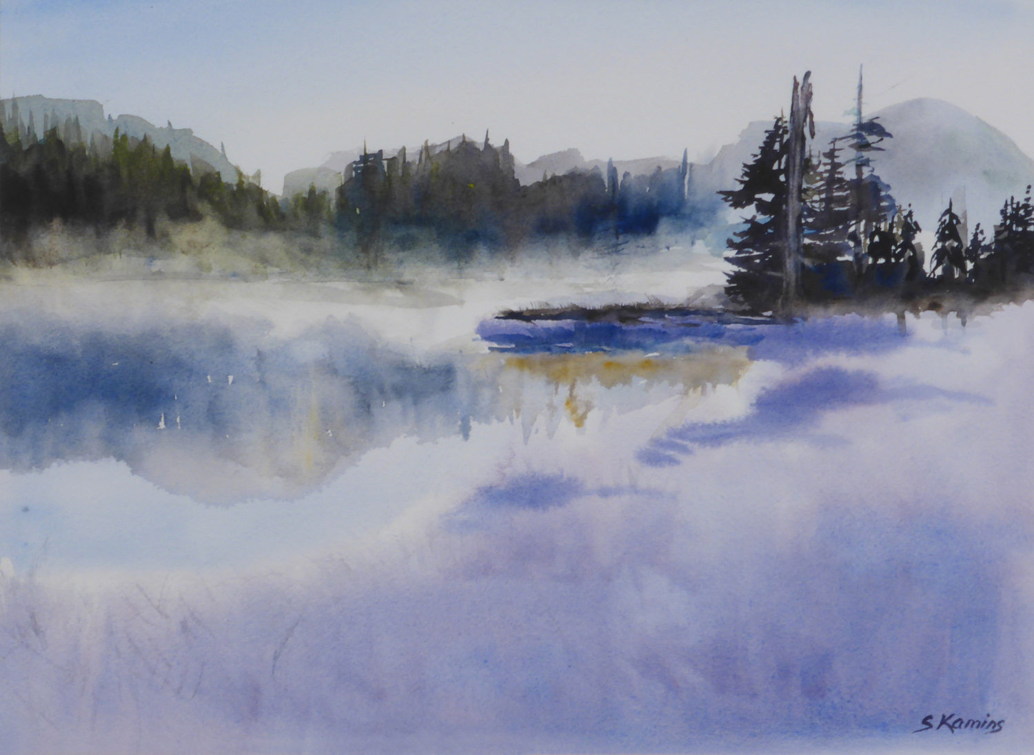 Misty Lake ,10 x 13 inches