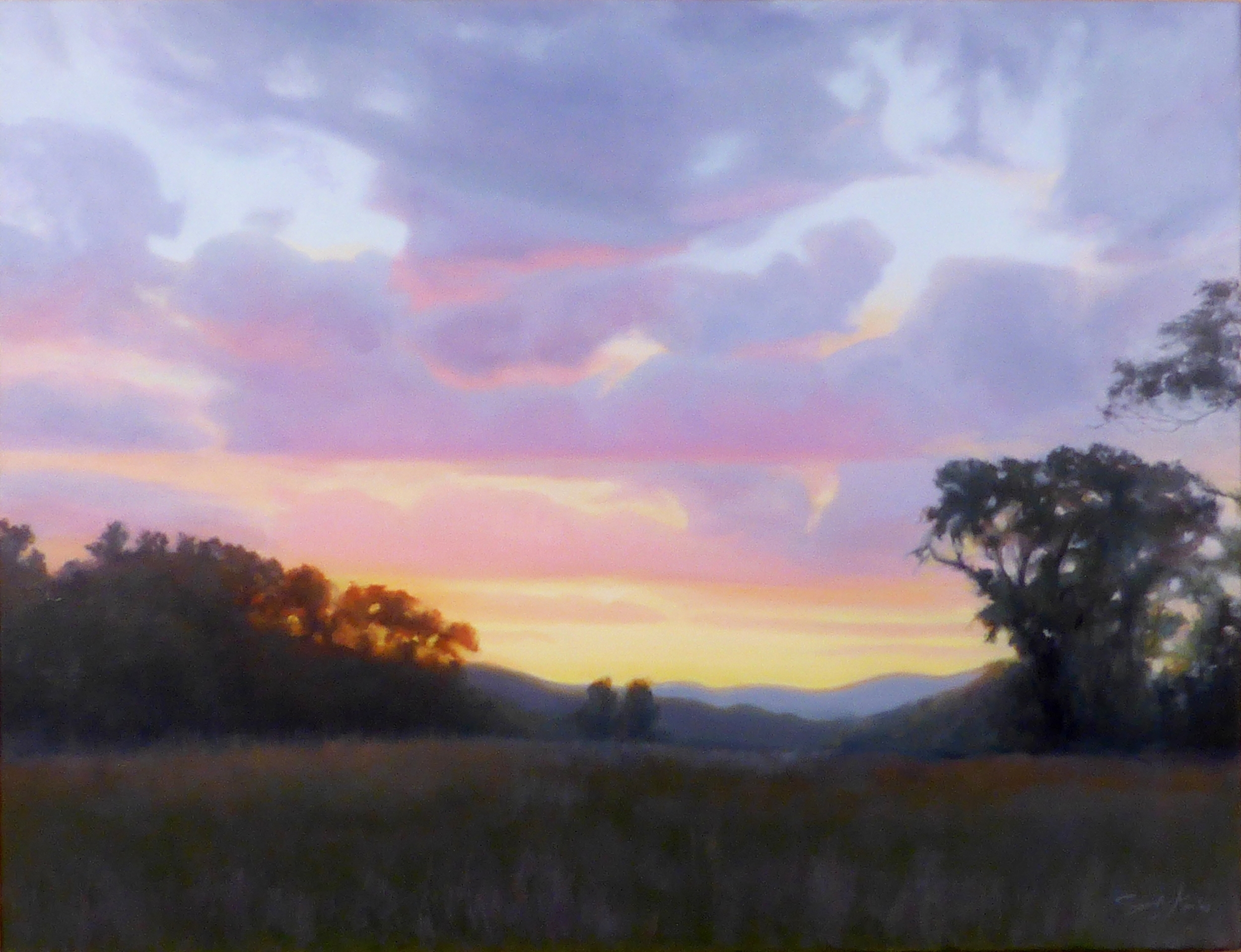 Summer Sunset , 26 x 34, oil on linen