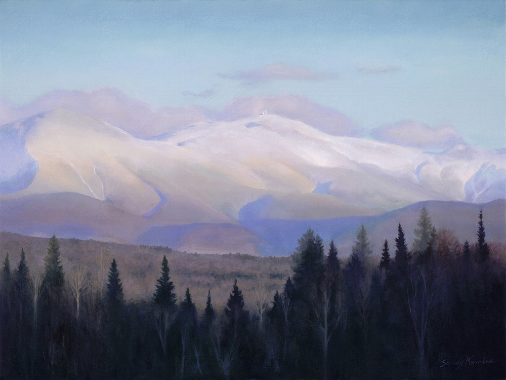 Mount Washington in January,  18 x 24 inches