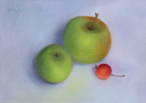Still life with Apples ,5 x 7 inches