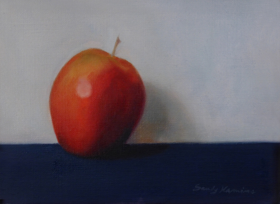 Red Apple ,6 x 8 inches