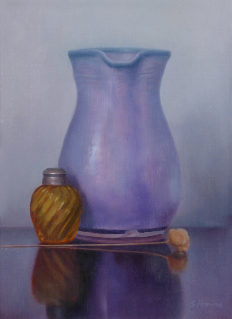 Purple and Amber ,12 x 9 inches