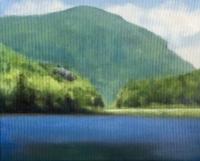 Crawford Notch, NH, oil on canvas, 8 x 10