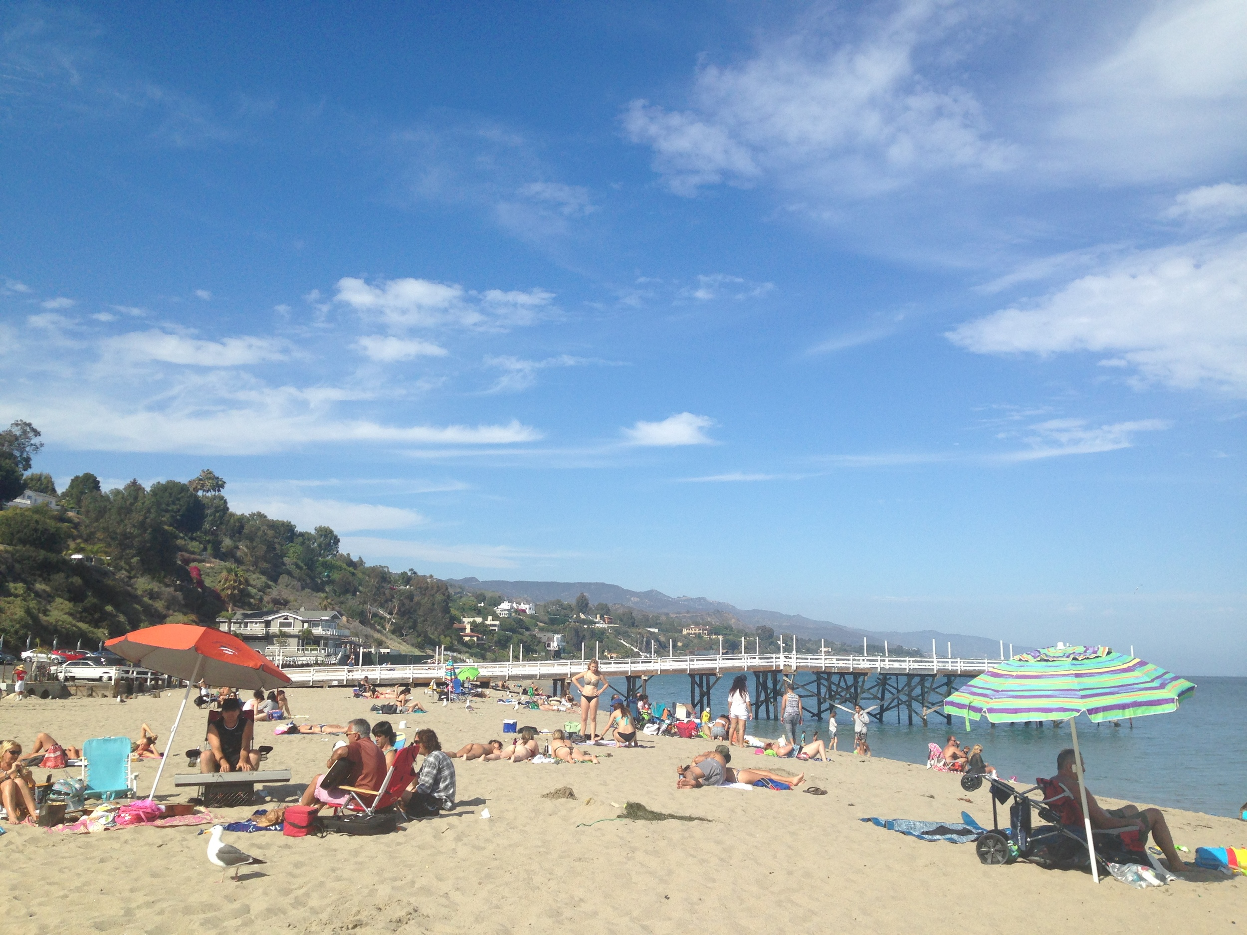 Paradise Cove in Malibu! Where I fulfilled my life-long dream of drinking out of a coconut...then cut my foot walking in the sand.