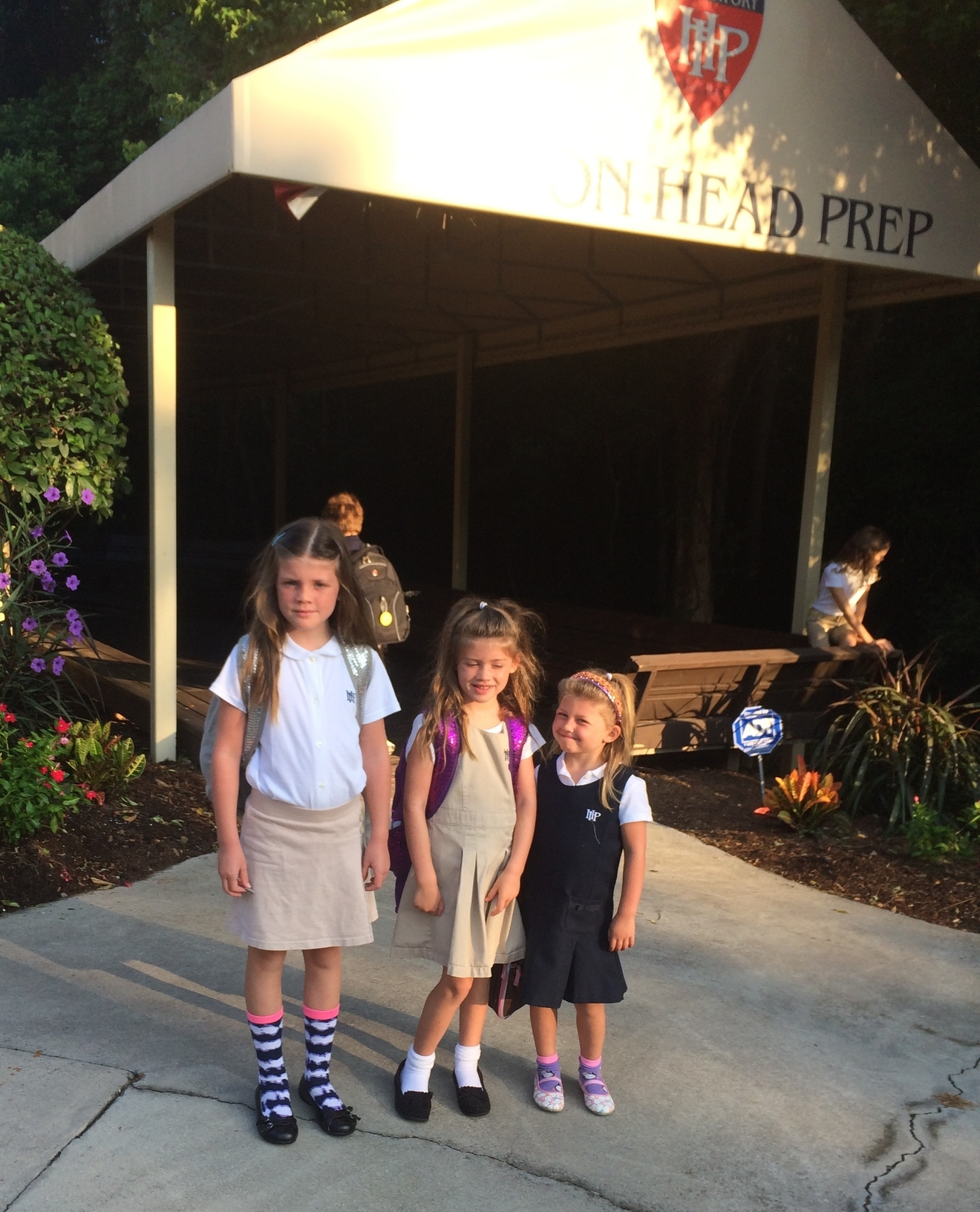 The girls' first day of school.