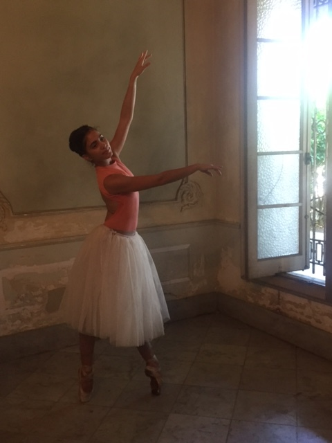 Cuban dancer in an old home during a photography lesson with Ramses Batista and Alex Castro (Fidel Castro's son).