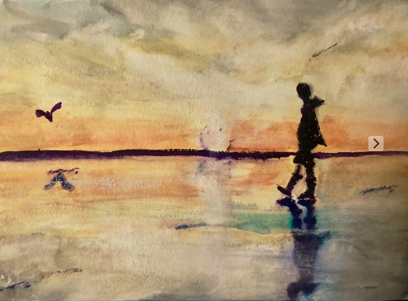 Daybreak on the Beach by Bo