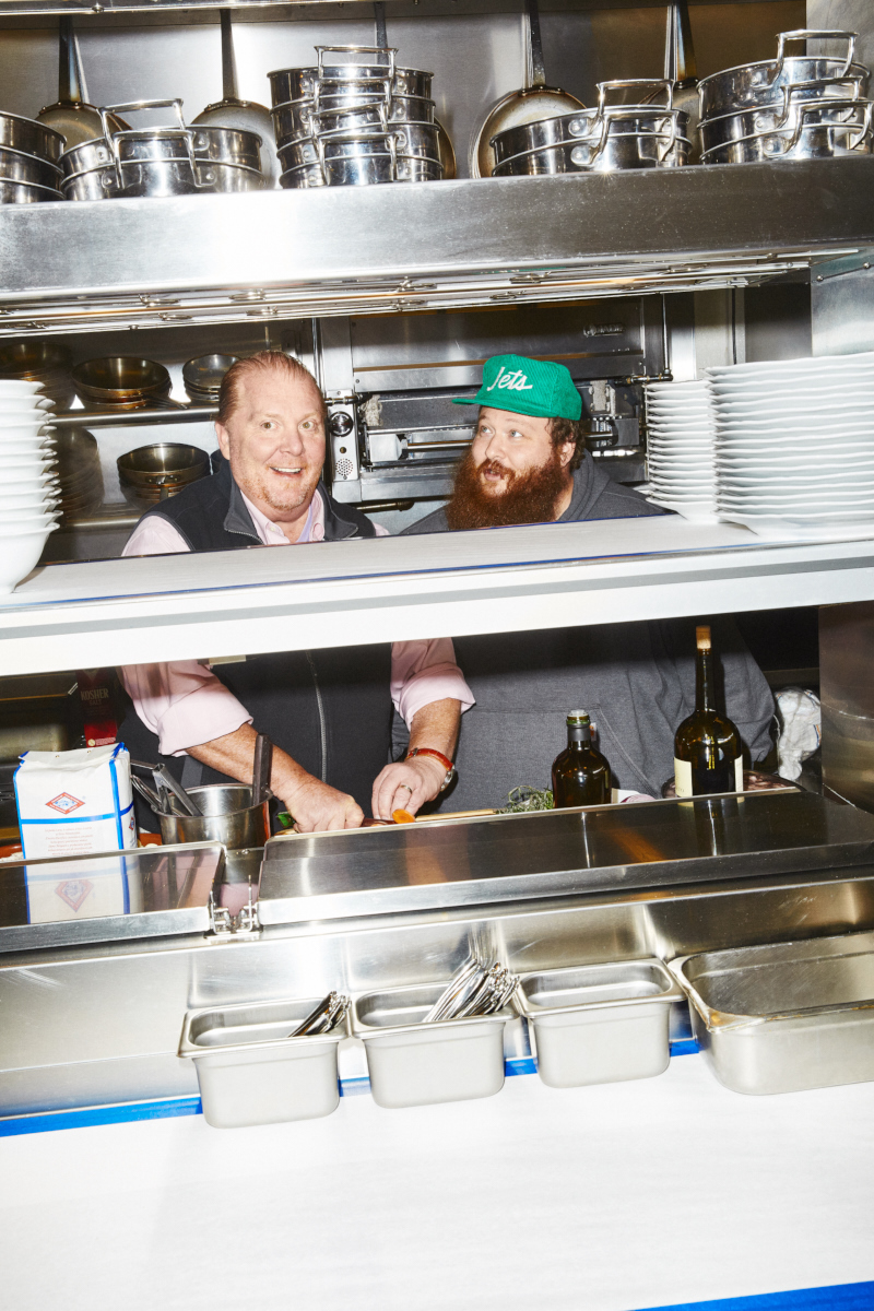 Mario Batali and Action Bronson for Billboard