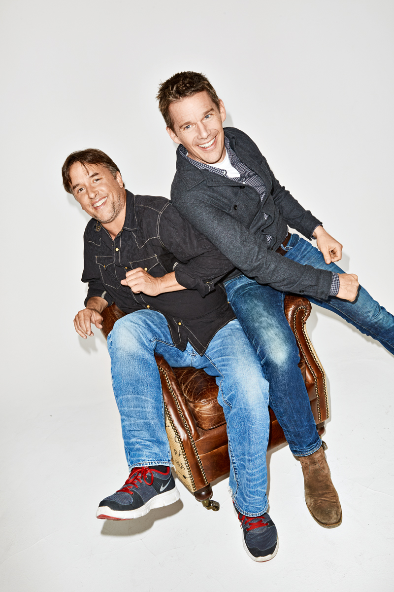 Ethan Hawke and Richard Linklater for Esquire