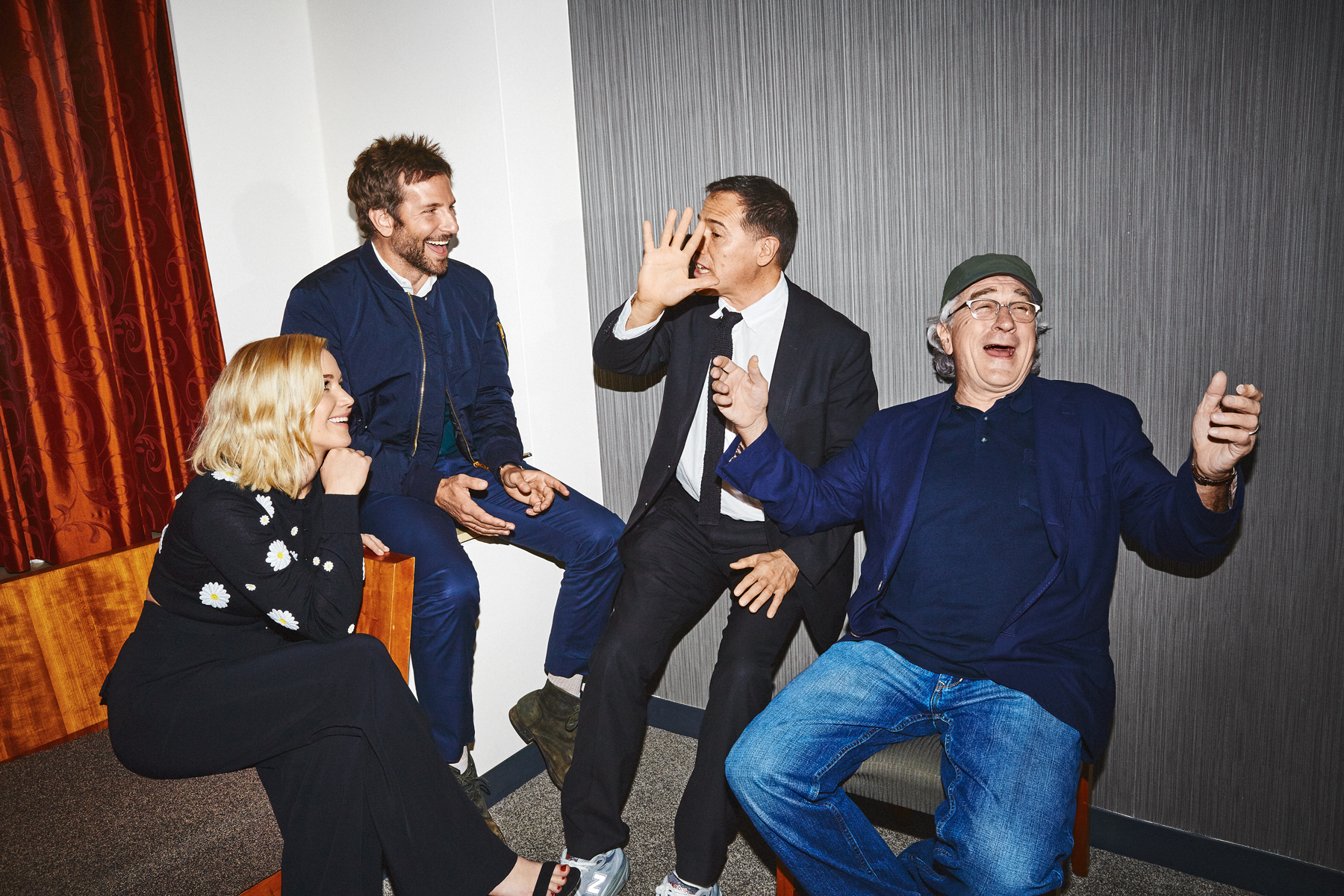Jennifer Lawrence, Bradley Cooper, David O. Russell and Robert De Niro for the New York Times