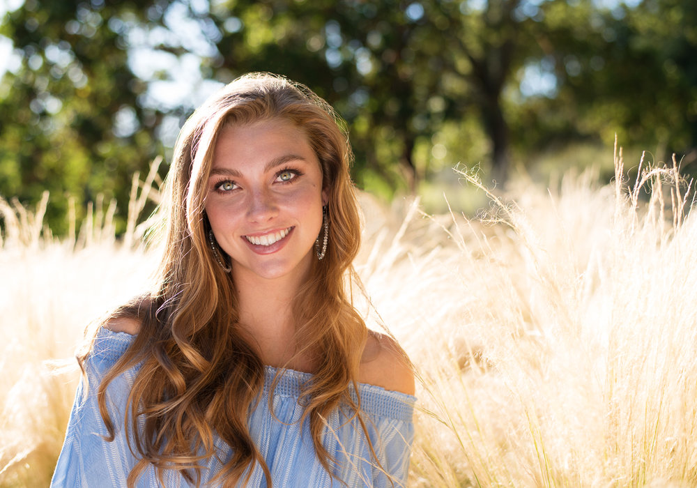 Gorgeous backlight outdoor senior photo shoot in Sonoma County, CA