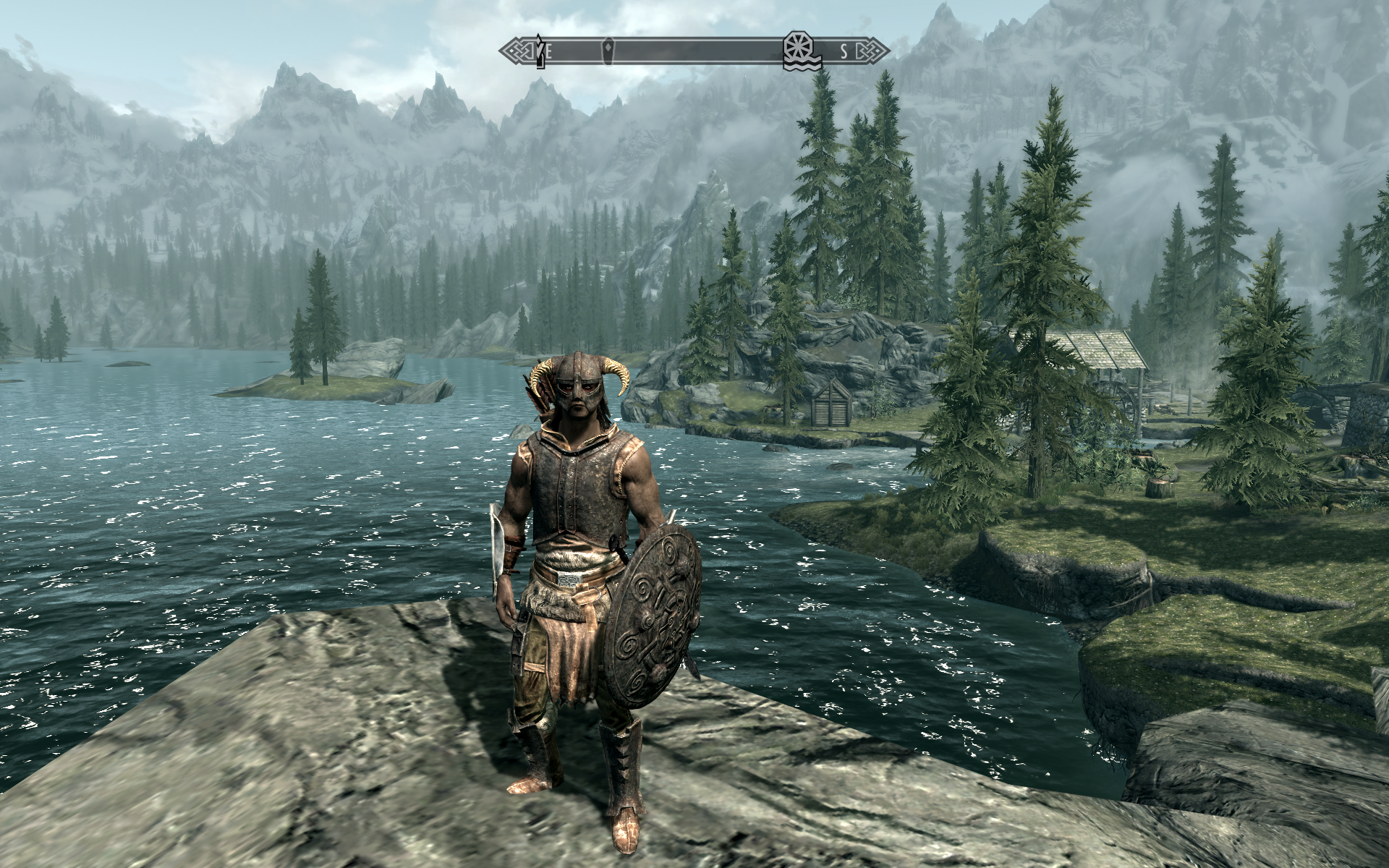 Skyrim 's navigational compass is sleek and elegant, & doesn't distract from gameplay.