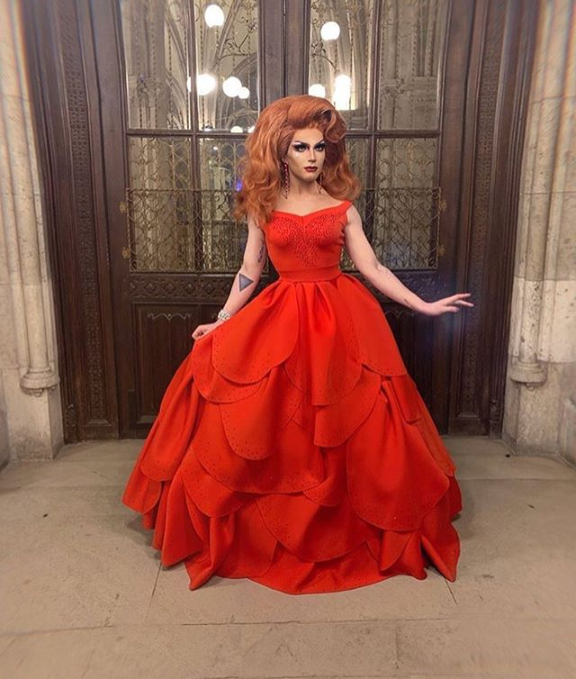 🌹🌹🌹 Had so much fun creating this rose inspired ball gown for the ever so gorgeous and talented @rosewithanaccent for the Lifeball this year.  Hair styled by @carlostheuberdriver  Special thanks to @lilithlefae and @fistyweaner for helping me get her together and stoned in time.