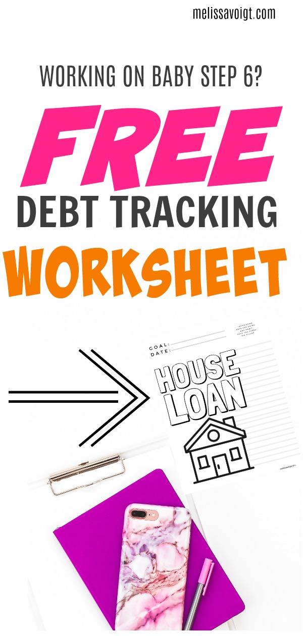 Mortgage Loan Printable Debt Free Tracker Melissa Voigt