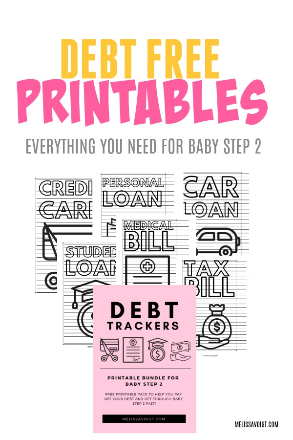 picture relating to Free Printable Debt Free Charts named Credit card debt TRACKERS FOR Little one Move 2 Melissa Voigt