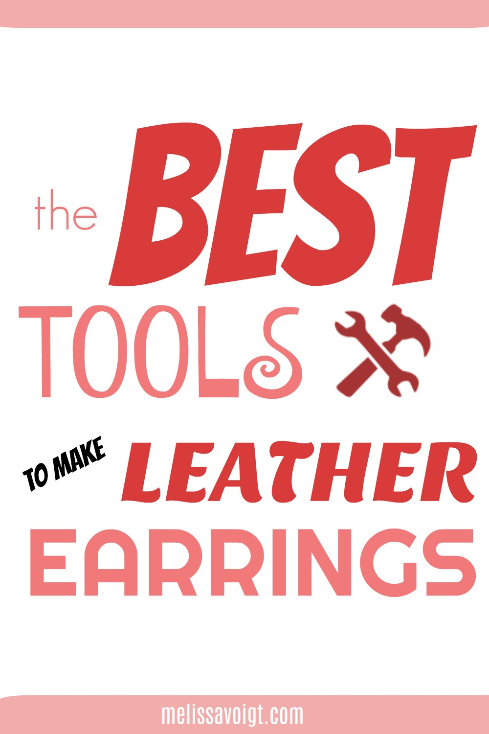 best tools leather earrings graphic.