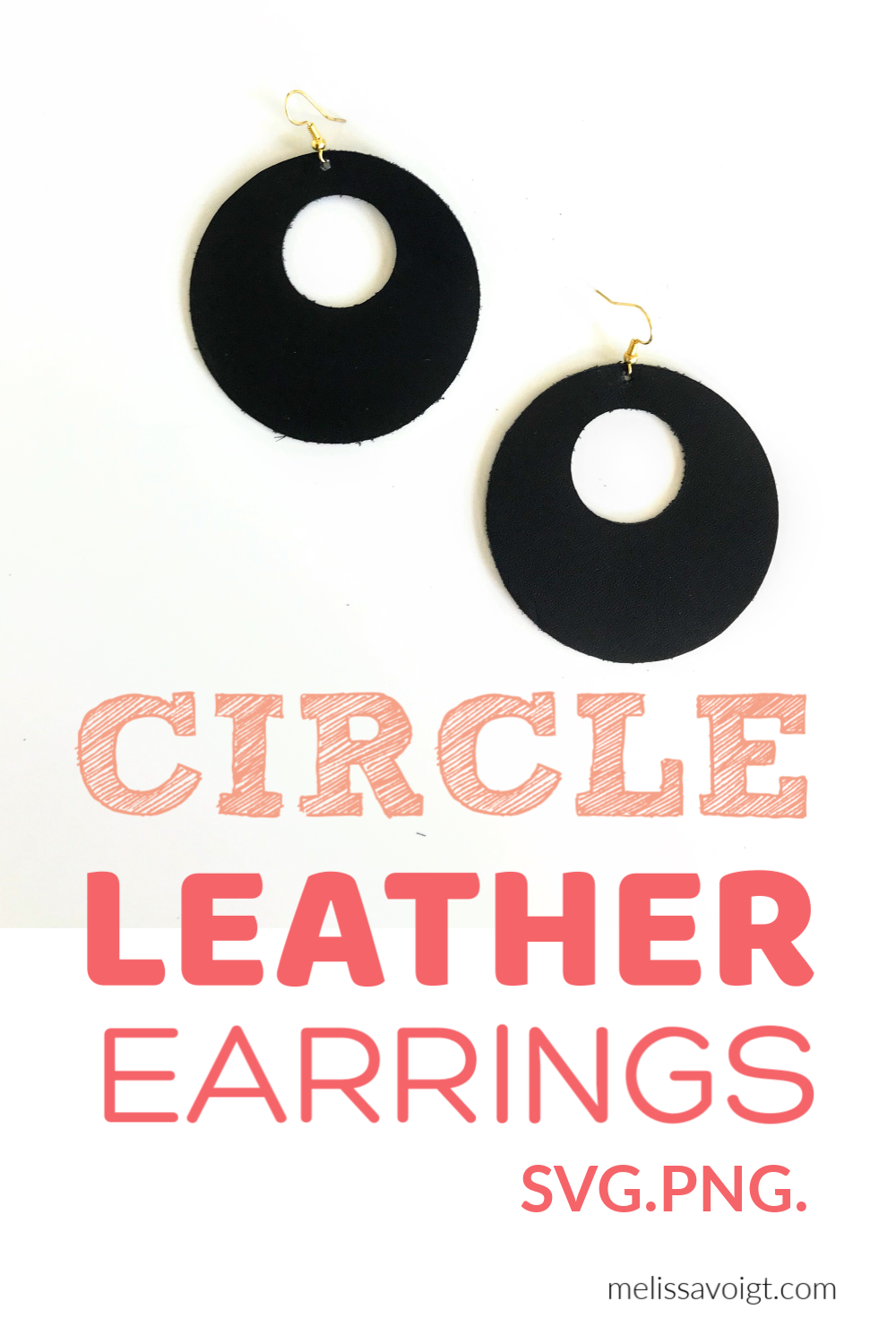 DIY CIRCLE LEATHER EARRINGS