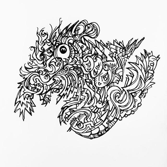 #sketchbook #saturdaymorning #goodmorning #uniballpen #doodle #zoodle #sureal42 #surreal #uniballvision #penandink #trippy #trippyart #abstrct ##automaticdrawing #acid #acidart #blotter