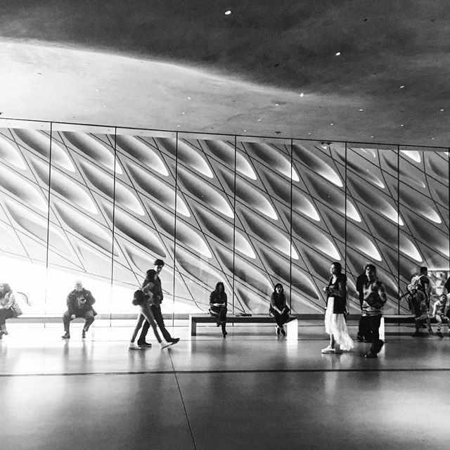 #thebroadmuseum #dtla #losangeles #architecture #blackandwhite #shadows  #scifi #sunday #broad #california