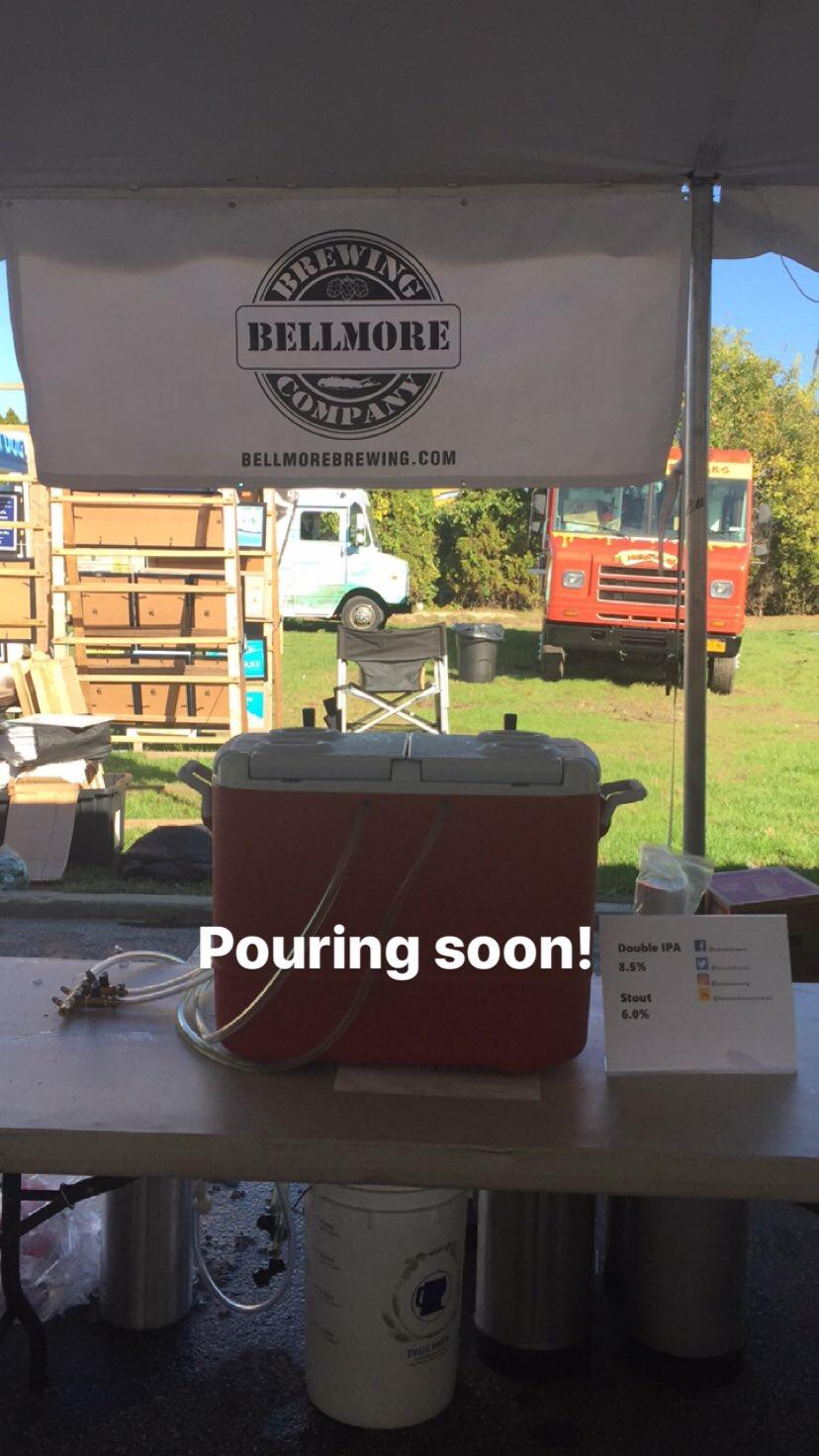 bellmore brewing punktoberfest 2017 booth setup.JPG