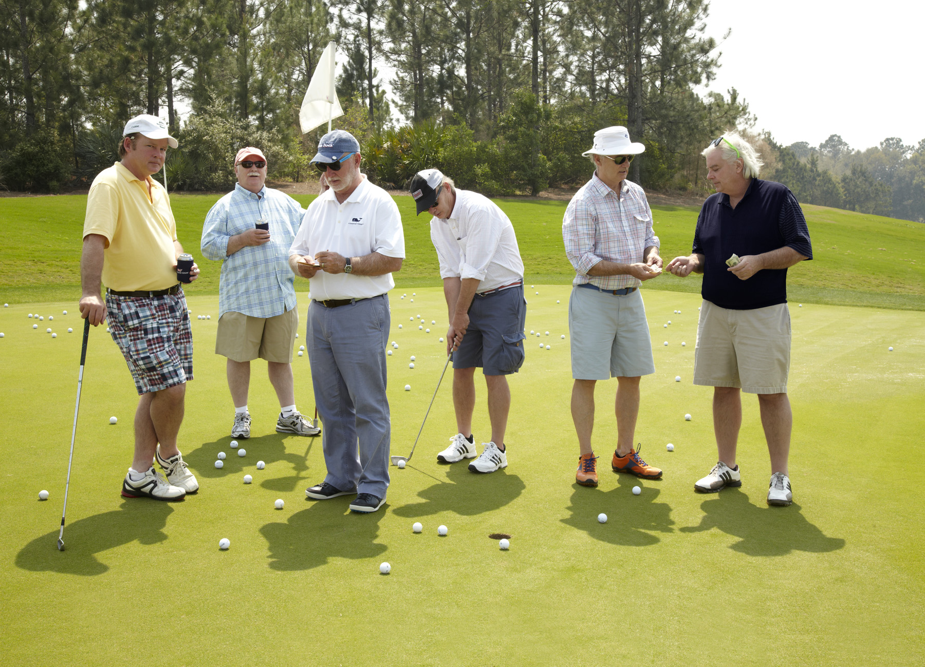 The Murray Bros. playing the best game there is, in our opinion ;) - (Pictured left to right: Joel, Brian, Ed, Johnny, Bill, Andy)
