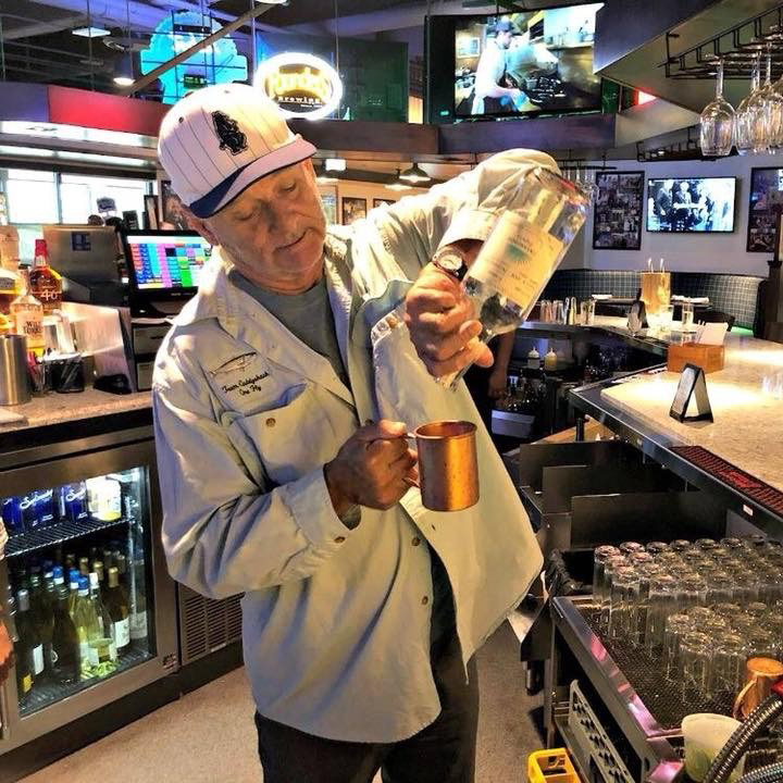 """""""This one's on me.""""  - Bill Murray behind the bar at Murray Bros. Caddyshack Restaurant in Rosemont"""